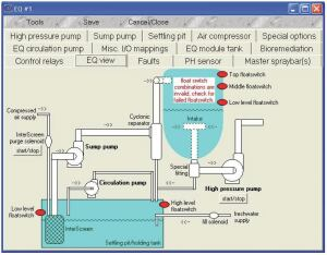 This diagram shows a passive washwater recycling system for transit buses.