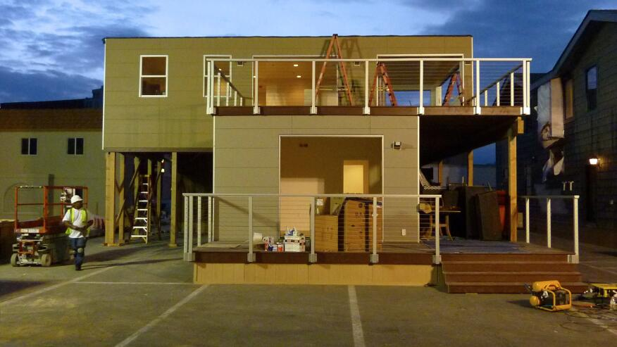 Chris Krager's Fire Island House under construction in Las Vegas.