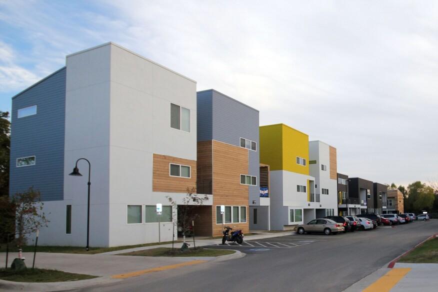 The Beechwood Village student apartments at the University of Arkansas.