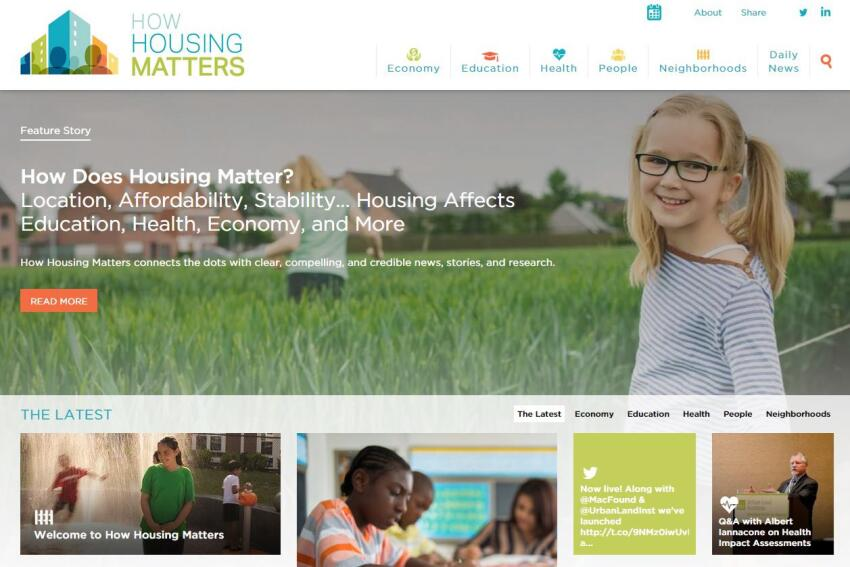 "Urban Land Institute Launches ""How Housing Matters"" Resource"
