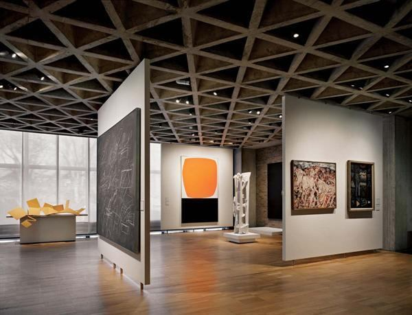Yale University Art Gallery's 1953 Louis Kahn building.