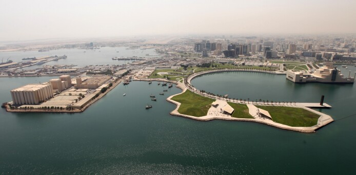 The Arabian Gulf port, where the Art Mill will be built.