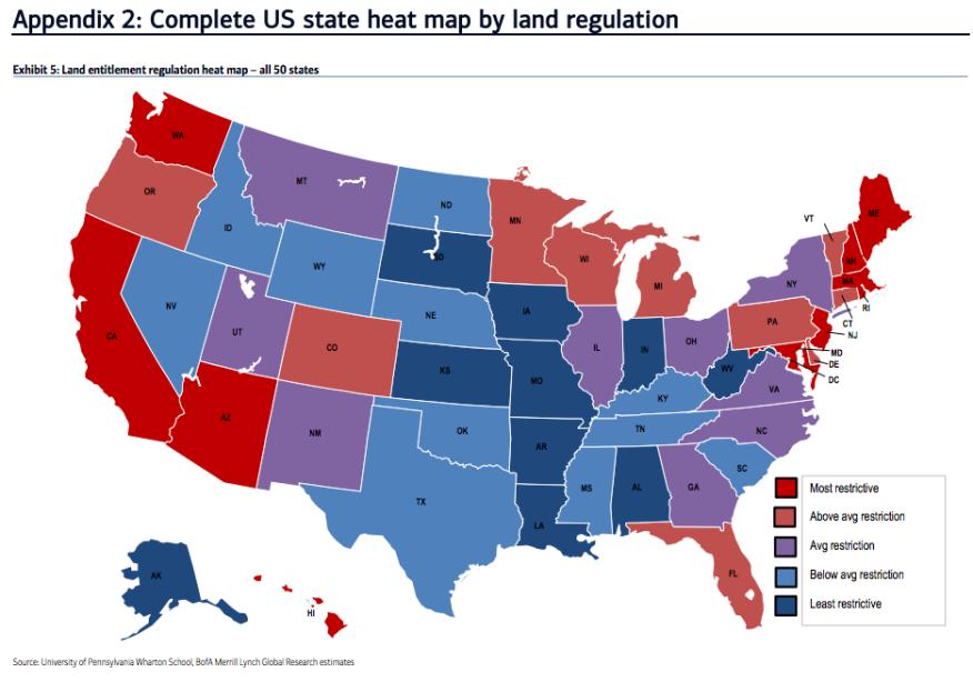 Regulations Burden A HeatMap Builder Magazine Housing - Complete us map
