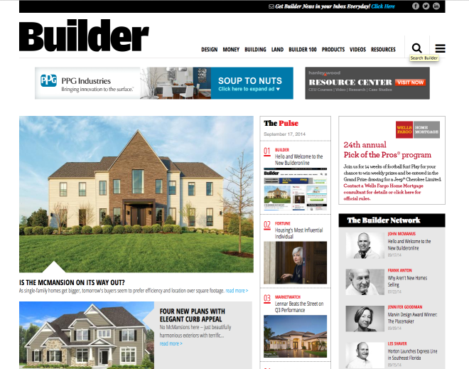 Hello and Welcome to the New Builder Online