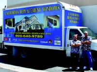 Company owners Joel Peck and Jerry Kerby beside a truck with full graphic treatment. Their trailer (below) is next.