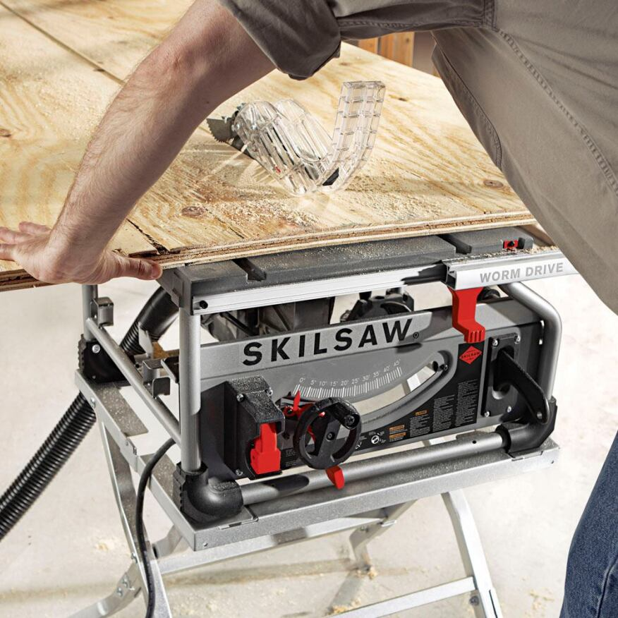 Skilsaw S Worm Drive Table Saw Tools Of The Trade Saws Tool Tests Skilsaw