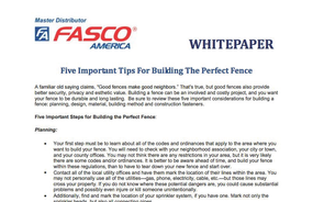 Five Important Tips For Building The Perfect Fence