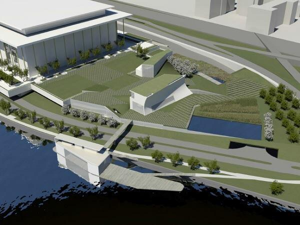 A rendering of the Kennedy Center expansion