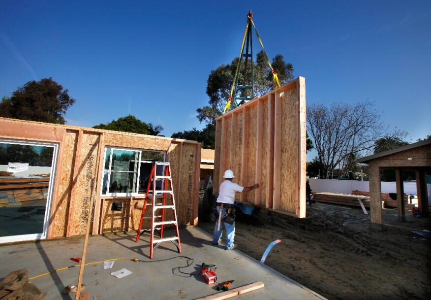 RSI Homes' panelized construction process keeps waste to a minimum.