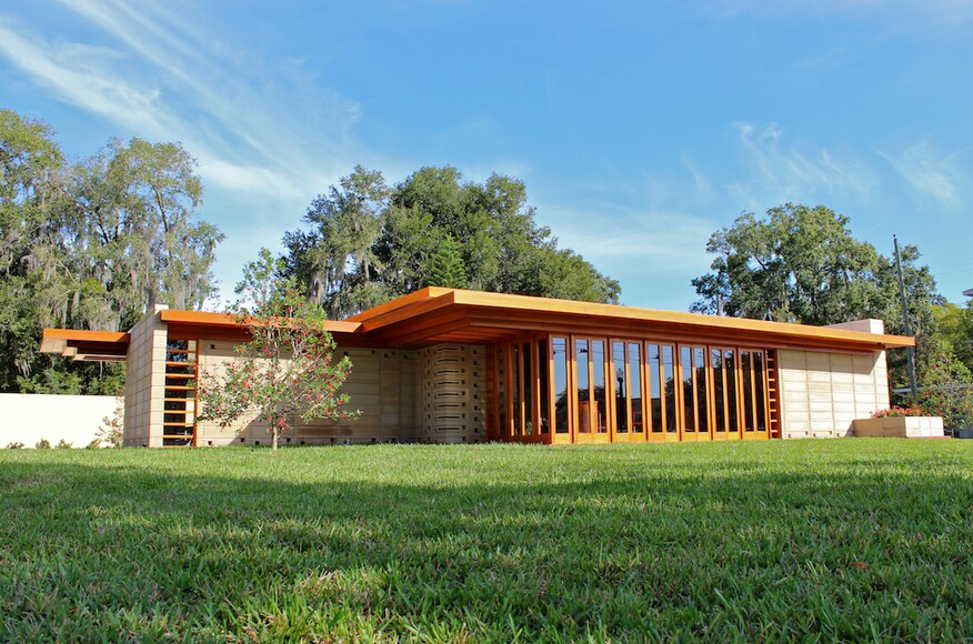 Usonian house at florida southern college architect for Florida home designs lakeland fl