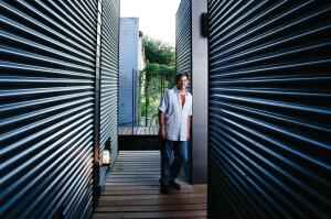 Dan Shipley, FAIA, values corrugated metal for its tough character and tactile look.