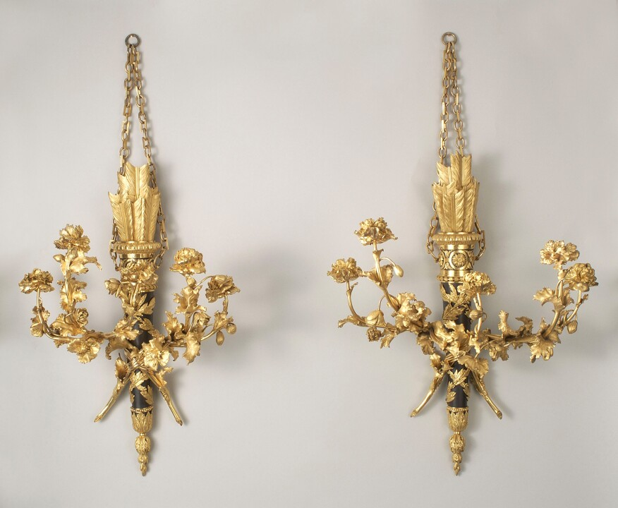"""Pair of Wall Lights"" by Pierre Gouthière, designed by François-Joseph Bélanger (ca. 1780)"