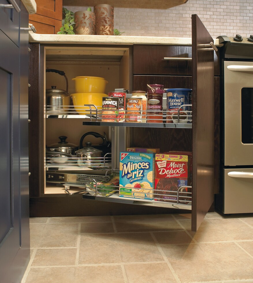 Deep Kitchen Cabinet Solutions: We've Got You Cornered With These Cabinet Storage