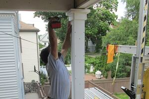 Dressing up Porch Posts With PVC