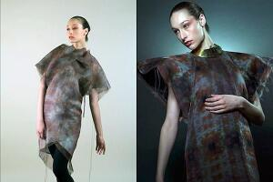 A prototype dress demonstrates the color- and pattern-transforming possibilities of smart clothing.