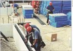 A minimun of construction-related noise is associated with assembling and erecting the insulated formwork on the jobsite.