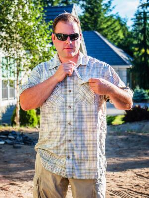 Duluth Trading Armachillo Cooling Short Sleeve Shirt.