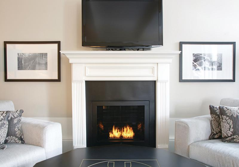 High Style Hot Box: Hearth Cabinet Safety Cabinet Ventless Gel Fireplace