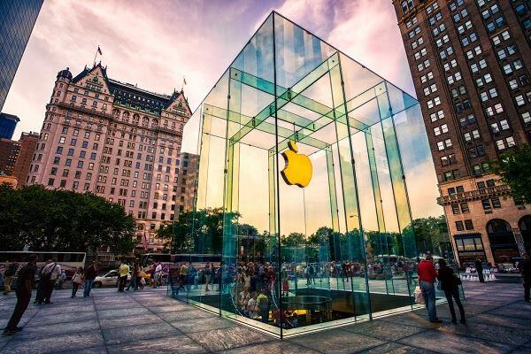 The Apple store on New York's Fifth Avenue