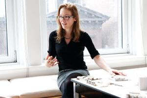 In Anchises, designers Ariane Lourie Harrison (pictured) and Seth Harrison investigate the aging body in space.