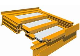 T5000 4-PANEL TRIPLE Retractable Roof Skylight