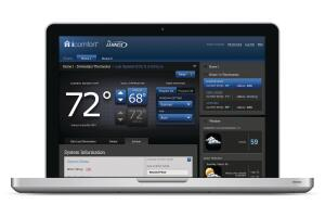 Cloud Comfort The Icomfort from Lennox: a Wi-Fi touchscreen thermostat.