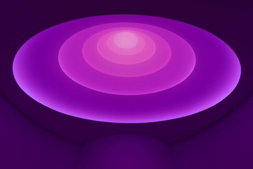 Aten Reign,2013  Daylight and LED light, dimensions variable  © James Turrell  Installation view: James Turrell, Solomon R. Guggenheim Museum, New York, June 21–September 25, 2013