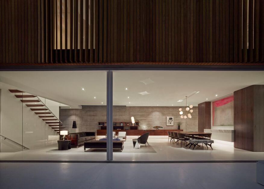 Open ground floor.