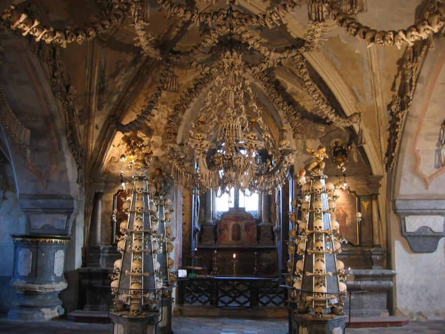 Bone church in Kutna Hora.