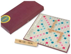 OBJECT Scrabble  DESIGNER Alfred Mosher Butts, 1899-1993  DATE 1953  PRICE $7.49  SOURCE eBay