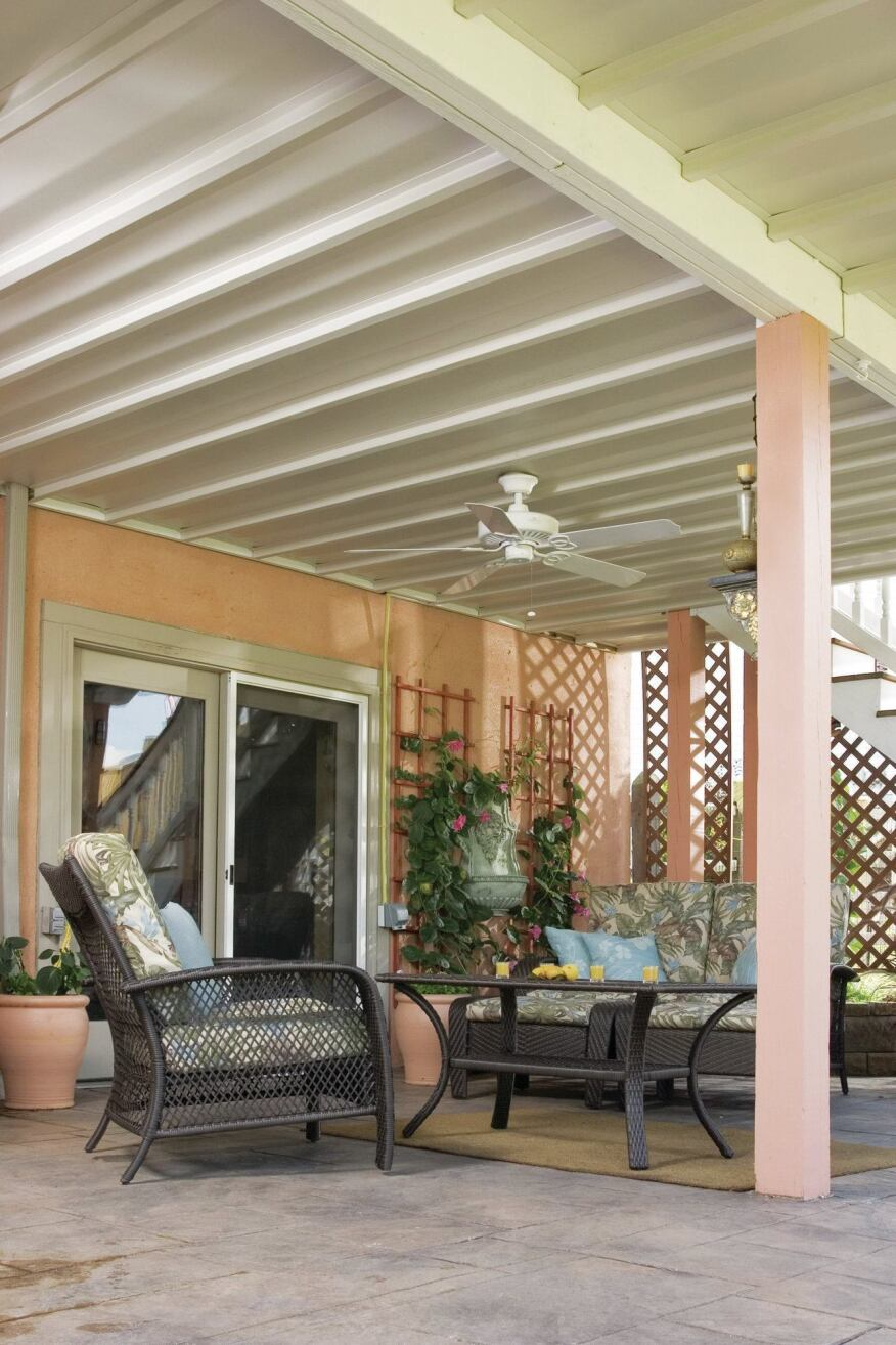 Under deck drainage roundup professional deck builder for Cost of outdoor living space