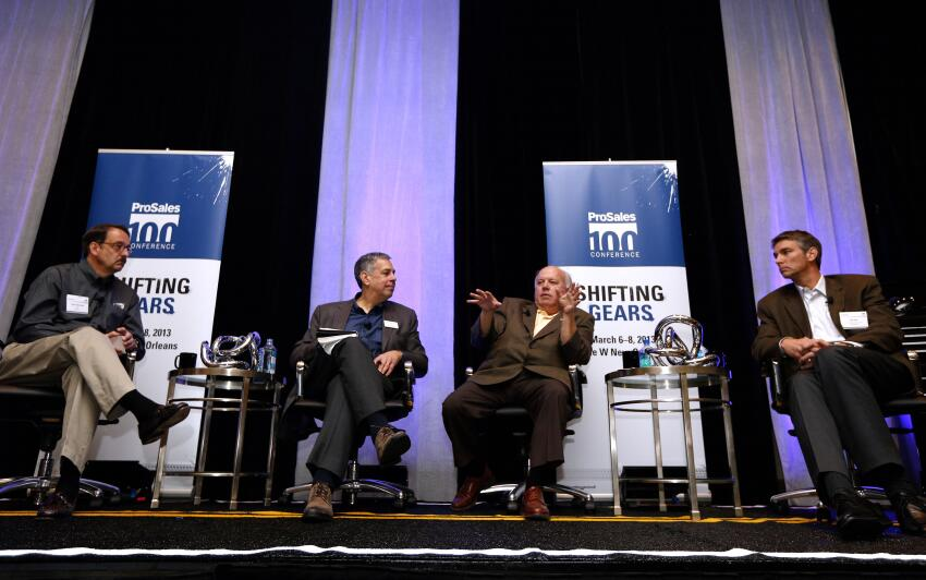 BMC CEO Peter Alexander, ProSales editor Craig Webb, ABC Supply president and CEO David Luck, and Stock Building Supply president and CEO Jeff Rea share advice they were given and best practices they learned in past jobs that have helped them lead three of the nation's largest dealers.