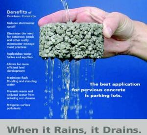 At a glimpse, this PCA pervious concrete illustration demonstrates its benefits.