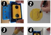 Multi Mark Magnetic Drywall Locator for Rectangular, Round, Octagonal Boxes