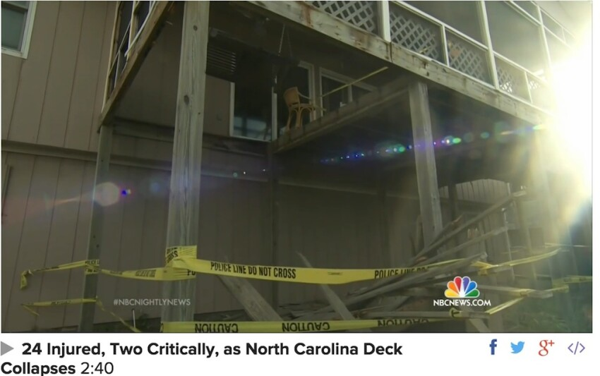 Another Deck Failure Injures 24