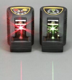Though green beams are said to be easier to see than red ones, green-beam lasers are costlier, burn through batteries more quickly, and may fail to work in very cold weather.