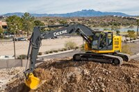 Maneuverable, reduced-tail-swing excavators
