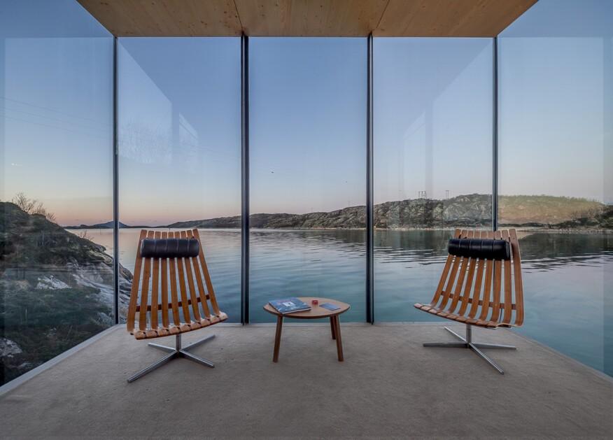 """""""Sea Cabin Interior, Manshausen Island Resort"""" (Cabin in Steigen, Norway, designed by Stinessen Arkitektur)"""