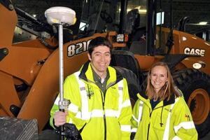 Felipe Aliva and Holly Powell work in the Fitchburg, Wis., public works department. Aliva took a job there 12 years ago to build the department's GIS database. Powell moved from her internship into a staff position after graduating from college.