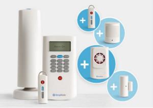 SimpliSafe alarm system.