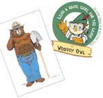 Two symbols of America's forests and parks recently marked anniversaries: Smokey Bear (left) and Woodsy Owl. Photo: USDA Forest Service