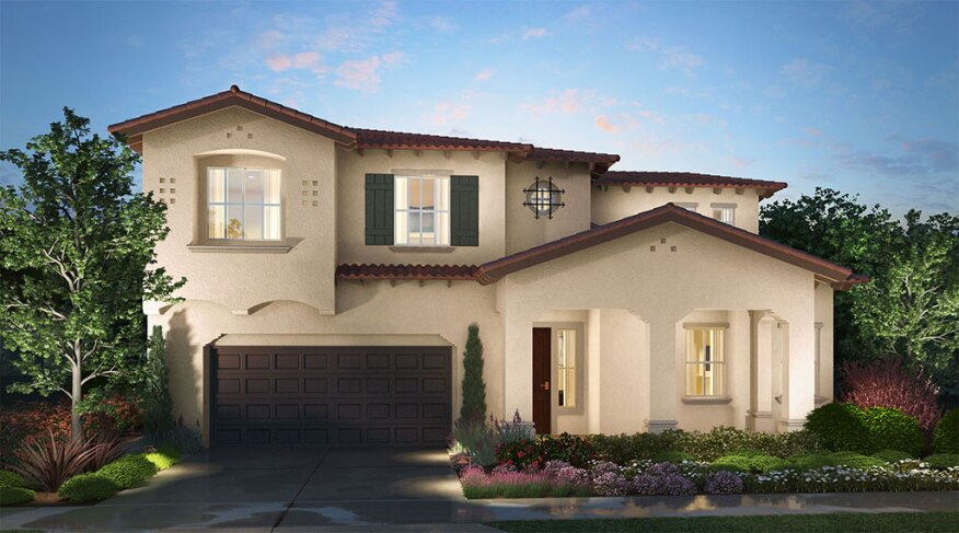 A rendering of a home in The Elms development