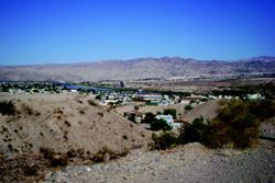 Bullhead City relies on the Colorado River, seen here in the distance, for water  and recreation. Photo: City of Bullhead City
