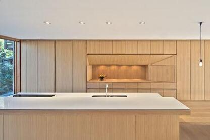 Custom millwork by KGA Custom Kitchens.