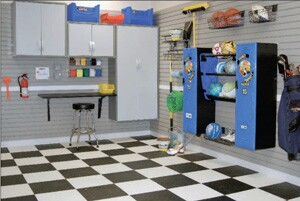 Garage organization vendors see home improvement companies as likely customers.