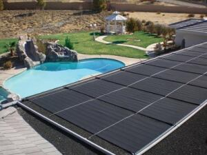 Most solar collectors are  installed on the roof, as long as they are not too steep and there  is not too much shade.