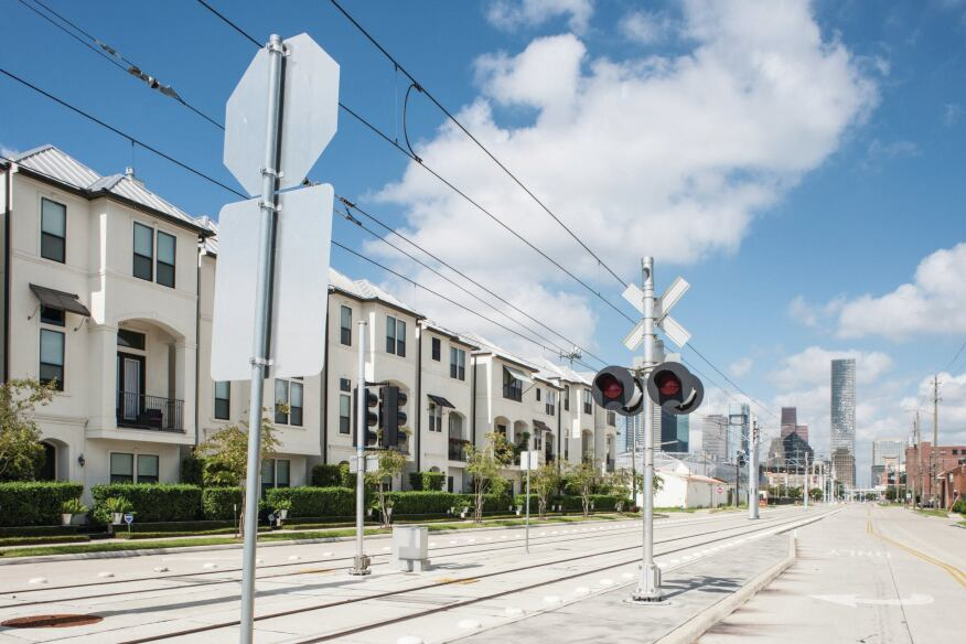 The purple line, which runs from downtown through Houston's Third Ward, has helped spur transit-oriented development.