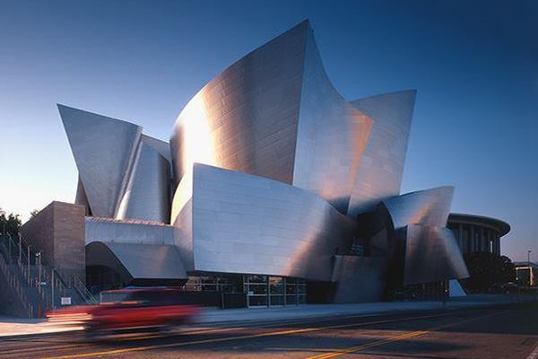 Frank Gehry's Walt Disney Concert Hall in Los Angeles.