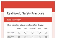 Tool Safety Survey