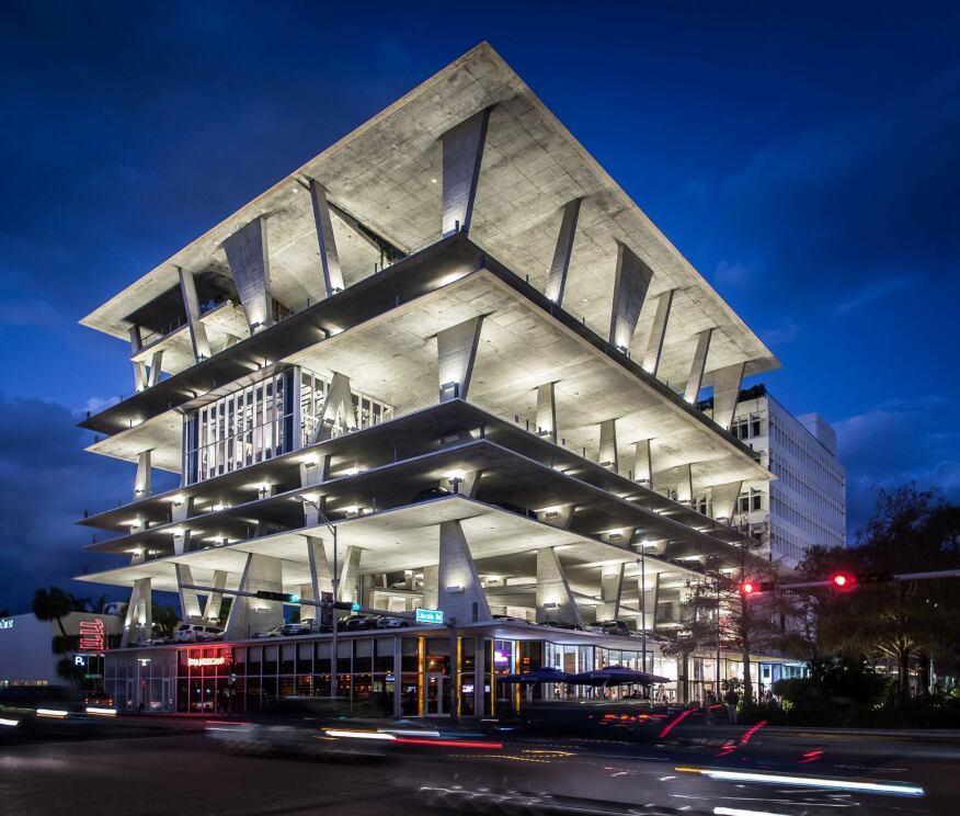 1111 Lincoln Road in Miami, Florida, by Herzog & de Meuron